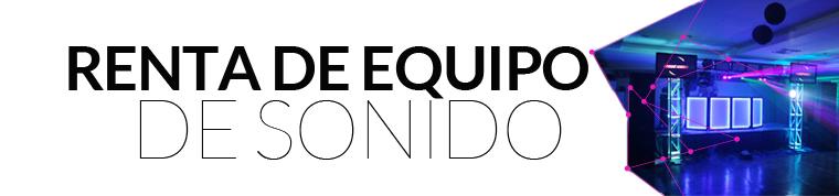 Renta equipo audio para DJ, sonido, PA, riders, consolas, mezcladoras